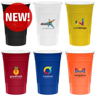 Customized 16 oz Reusable Run Stadium Cup - Full Color Inkjet