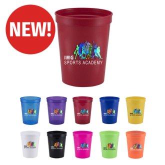 Customized 16 oz Ava Plastic Stadium Cup - Full Color Inkjet