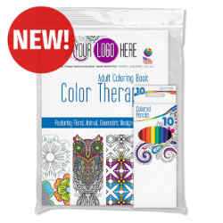Customized Color Therapy® Adult Coloring Book & Pencils Set