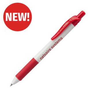 Customized EnerGel-X® White Barrel Metal Tip Gel Ink Pen
