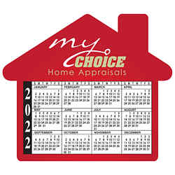 Customized Bic® Calendar Magnet- House shaped - 20 mil