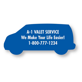 Customized Bic® Stock Shape Magnet-Van- 20 mil