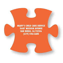 Customized Bic® Stock Shape Magnet-Puzzle Piece- 20 mil
