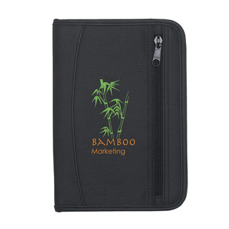 Customized Zip-Up Small Traveler Portfolio