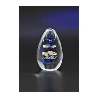 Customized Egg Shaped Aquatic Art Glass Award