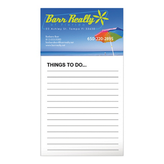 Customized BIC® Business Card Magnet/50 Sheet Notepad-FC