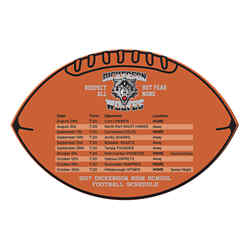 Customized BIC® Football and Rectangle Schedules