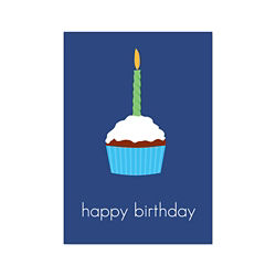 Customized Birthday Cupcake Greeting Card