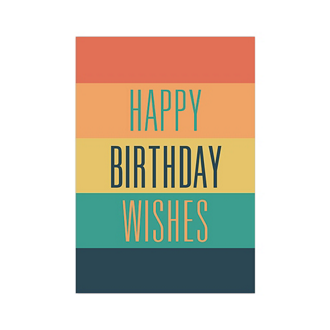 Customized Multi Color Birthday Wish Greeting Card