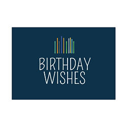 Customized Modern Birthday Wishes Greeting Card