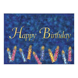 Customized Colourful Birthday Candles Greeting Card