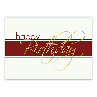 Customized Gold Script Greeting Card