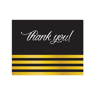 Customized Gold Stripes - Black Greeting Card