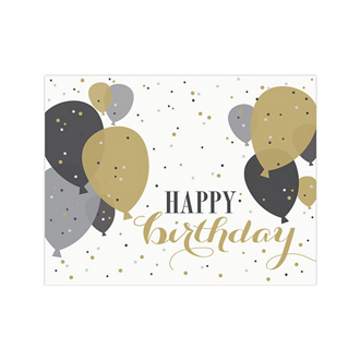 Customized Gold Balloons Greeting Card