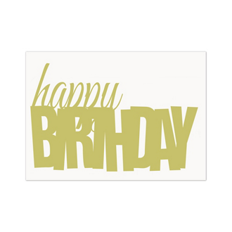 Customized Bold Birthday Greeting Card