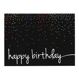 Customized Colorful Birthday Confetti Greeting Card