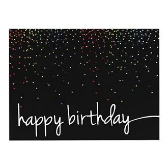 Customized Colourful Birthday Confetti Greeting Card