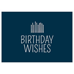 Customized Modern Birthday Candles Greeting Card