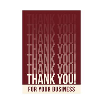Customized Thank You Business Greeting Card