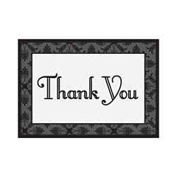 Customized Decorative Thank You Greeting Card