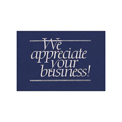 Customized Appreciate Your Business Greeting Card