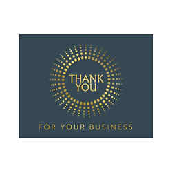 Customized Thank You Burst - Blue Greeting Card