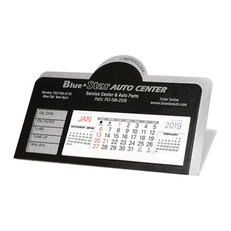 Customized Nu-Leth-R Desk Calendar