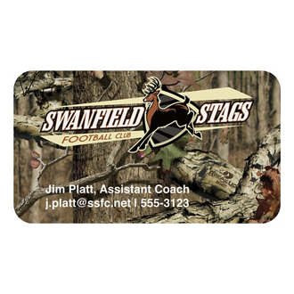 Customized Mossy Oak® BIC® Business Card Magnet