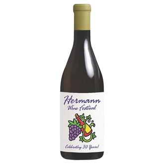 Customized Wine Bottle Magnet -Full Color .020 Mil