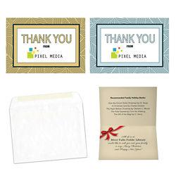 Customized Geometric Thank You Card