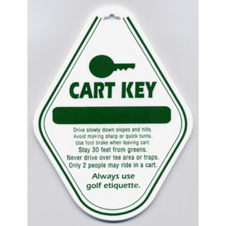 Customized Stock Cart Key Tags