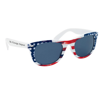 Customized Patriotic Malibu Sunglasses