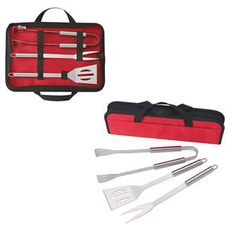Customized 3 Piece BBQ Set In Case