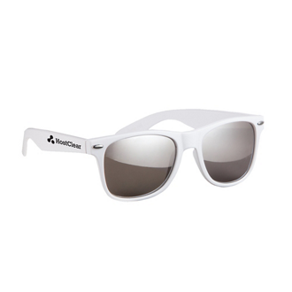 Customized Silver Mirrored Malibu Sunglasses