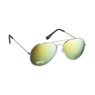 Customized Color Mirrored Aviator Sunglasses