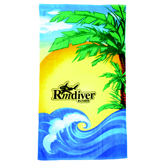 Customized Beach Towel - Beach Scene