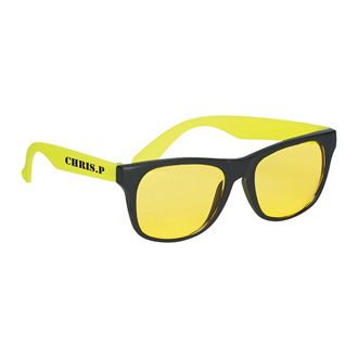 Customized Tinted Lenses Rubberized Sunglasses
