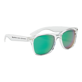 Customized Crystalline Mirrored Malibu Sunglasses