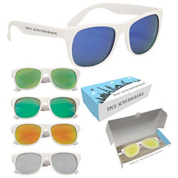 Customized Rubberized Mirrored Sunglasses