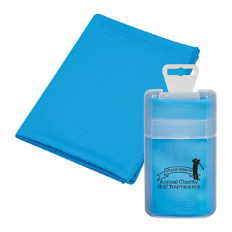 Customized Cooling Towel in Plastic Case