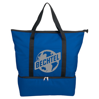 Customized Drop Bottom Tote Cooler
