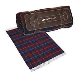 Customized Tartan Roll-Up Blanket
