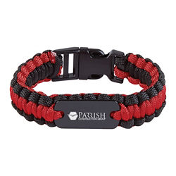 Customized Survival Bracelet with Metal Plate
