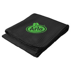 Customized Ribbed Fleece Blanket