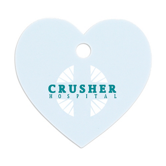 Customized Good Value™ Small Heart Pet ID Tag