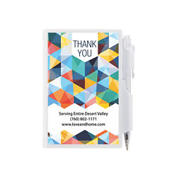 Customized Britebrand™ Plastic Cover Note Pad