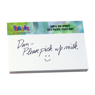 Customized 25 Sheet Bic® Sticky Note Pad - Thanks