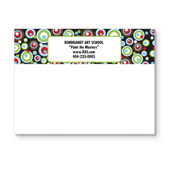 Customized Bic® Sticky Note 25 Sheet Pads - Retro Power