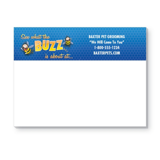 Customized Bic® Sticky Note 25 Sheet Pads - The Buzz About