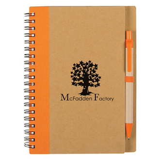 Customized Eco-Inspired Spiral Notebook & Pen